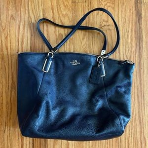 New Coach Navy Leather Purse
